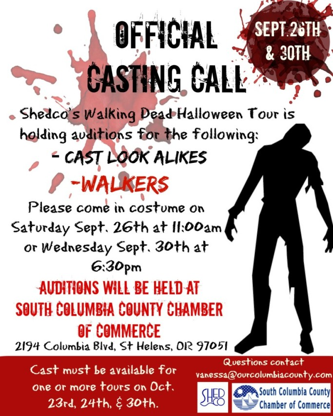 local walking dead casting call
