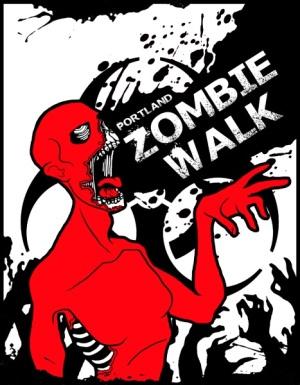 portland zombie walk poster